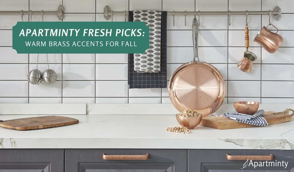 Apartminty Fresh Picks: Warm Brass Accents | Apartment Decor For Fall