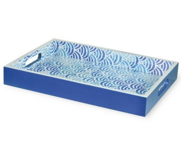 Apartminty Fresh Picks | Trays For Controlling Clutter | Boston International Scalloped Tray With Handles