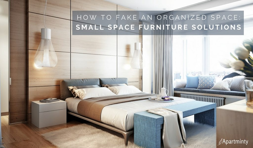 How To Fake An Organized Space | Small Space Apartment Furniture Solutions