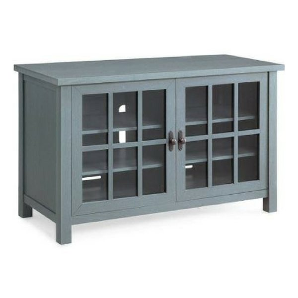 Apartment Furniture For Small Spaces | Furniture With Storage | Oxford Square Blue TV Console