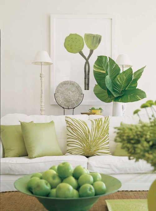 Spring Decor Trends | Pops Of Pantone's Greenery