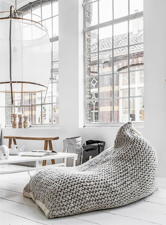 5 Things Minimalist Apartments Make Room For | Pouf Bean Bag Chair