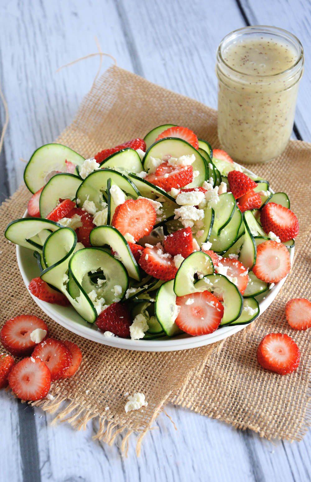 KitchenAid Spiralizer | Cucumber & Strawberry Poppyseed Salad