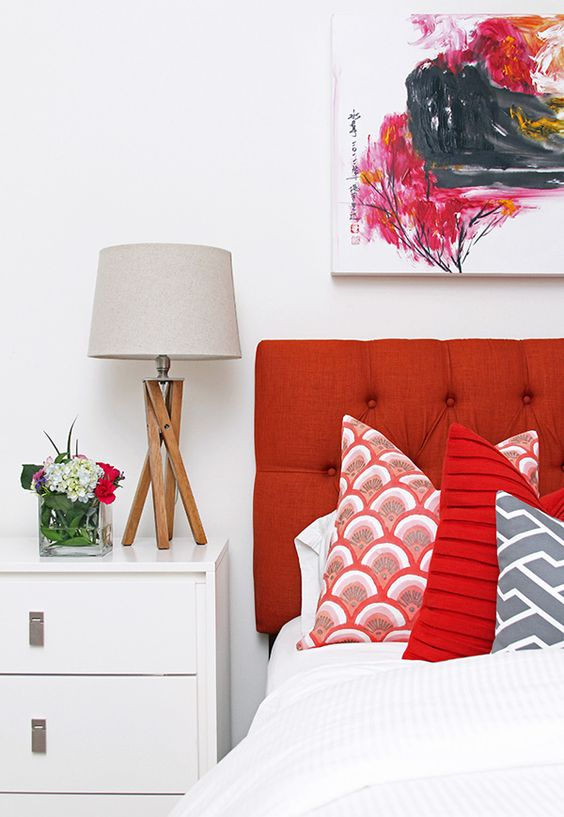 Apartment Decor For Summer | Decor Trends | Red-Orange Accents
