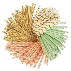 Summer Bar Cart Items   Festive Paper Straws