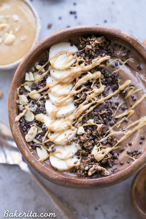 Smoothie Bowl Recipes | Summer Recipe Ideas | Chocolate Peanut Butter Banana Smoothie Bowl