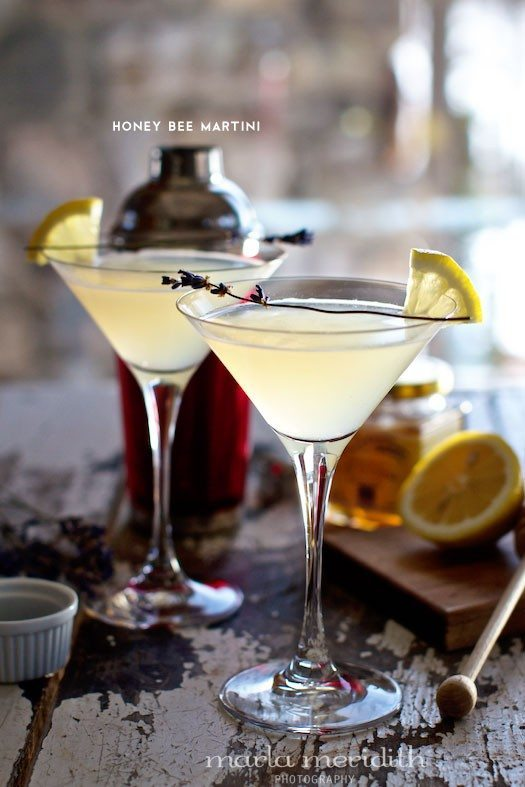 National Martini Day | Honey Bee Lemon and Lavender Martini