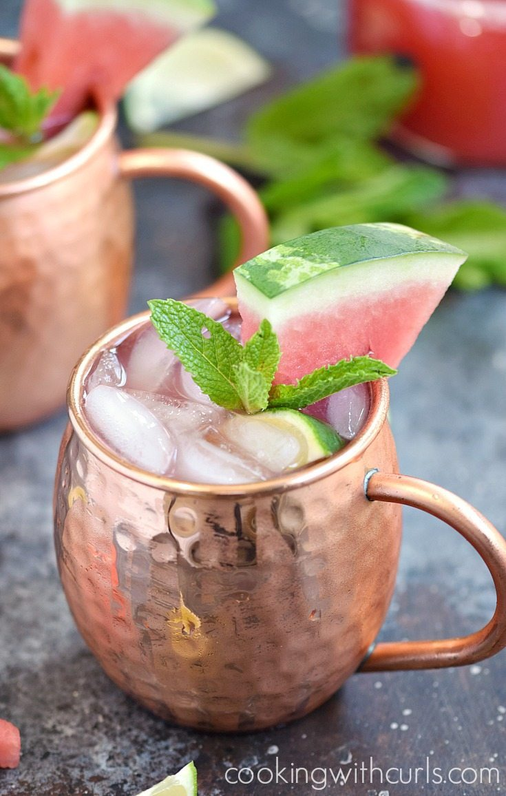 Watermelon Recipes for National Watermelon Day | Watermelon Moscow Mule