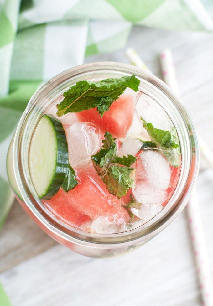 Watermelon Recipes for National Watermelon Day | Watermelon Mint Cucumber Detox Water