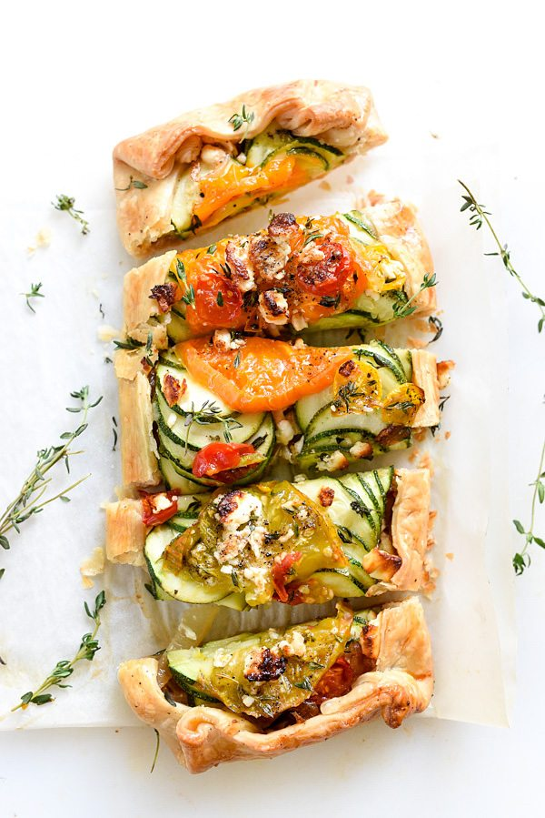 Late Summer Recipes | Heirloom Tomato, Zucchini, Caramelized Onion Galette