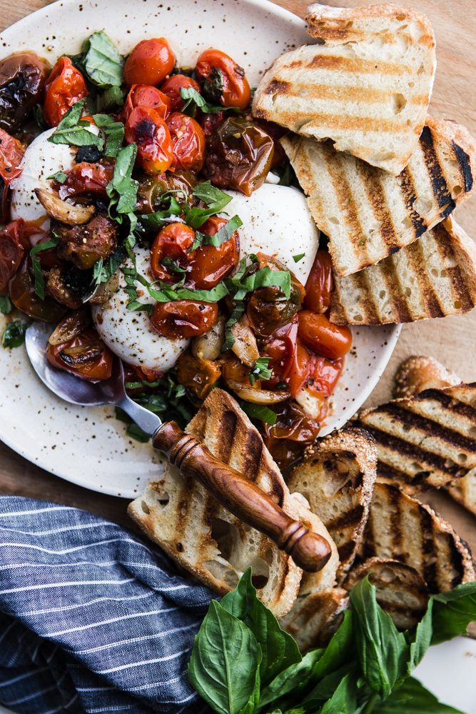 Late Summer Recipes | Braised Tomatoes With Burrata