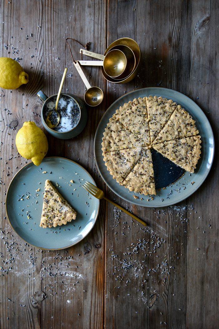 Late Summer Recipes | Lavender Lemon Shortbread