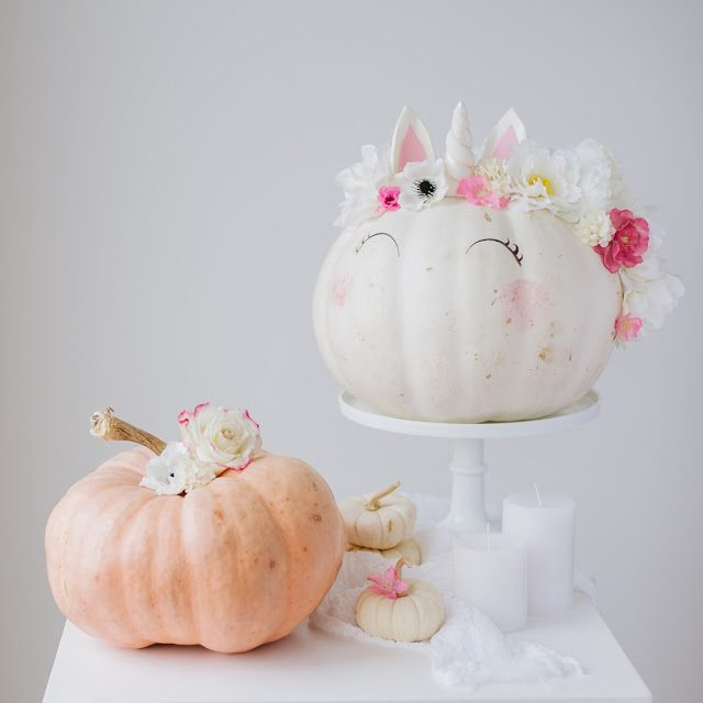 Unicorn Pumpkins | Decorating With Pumpkins
