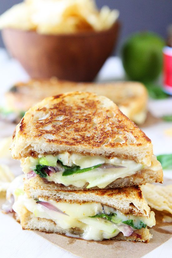 Best Apple Recipes | Brie, Fig & Apple Grilled Cheese