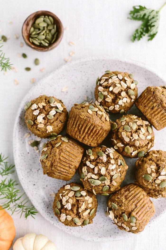 Holiday Detox Recipes | Pumpkin Oat Muffins