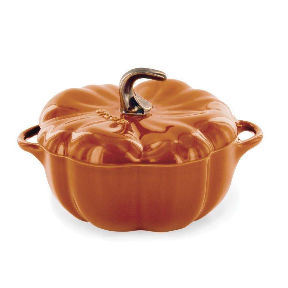 Thanksgiving Tablescape   Entertaining In Your Apartment   Staub Cast Iron 16-oz Mini Pumpkin Cocotte