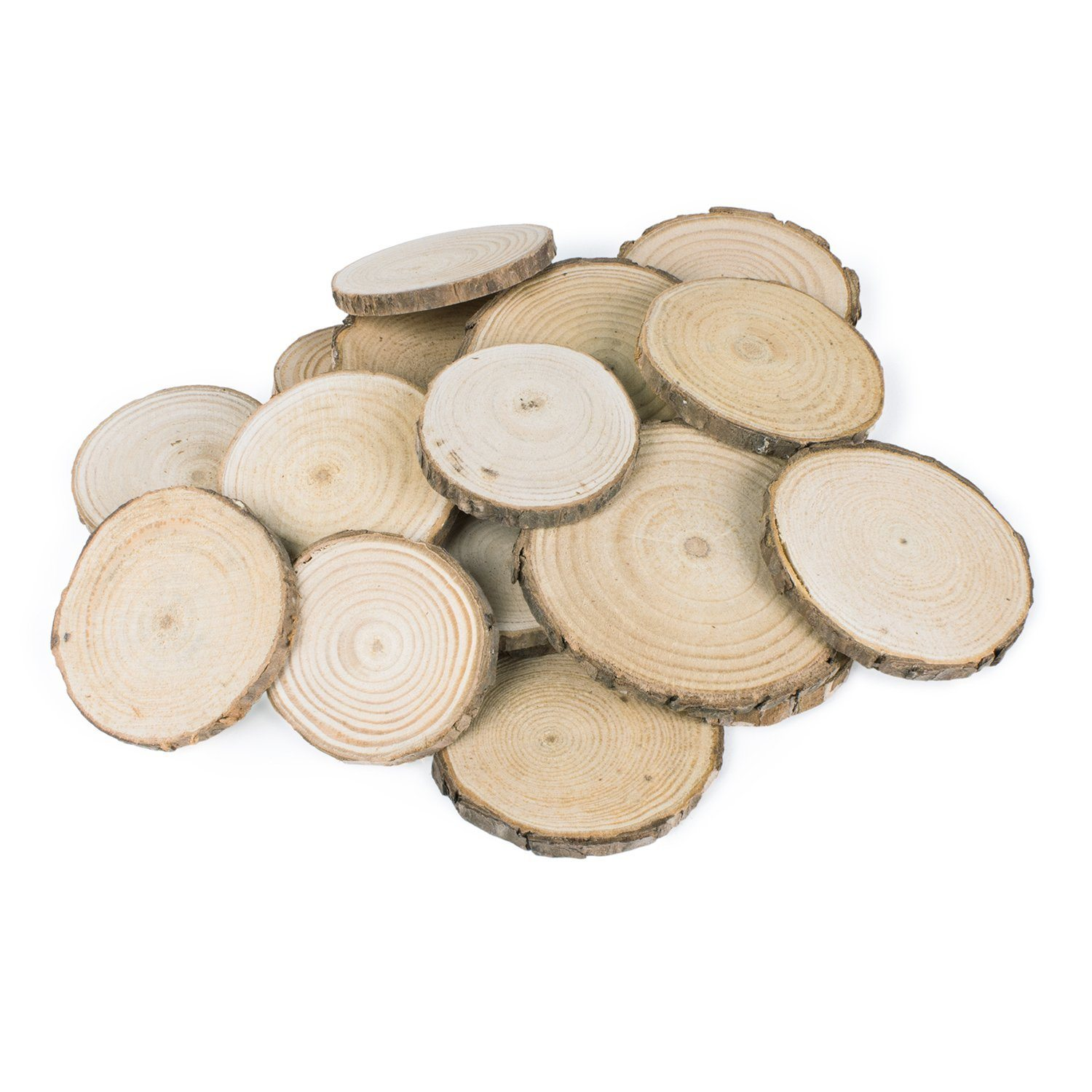 Thanksgiving Tablescape   Entertaining In Your Apartment   Mini Natural Wood Rounds
