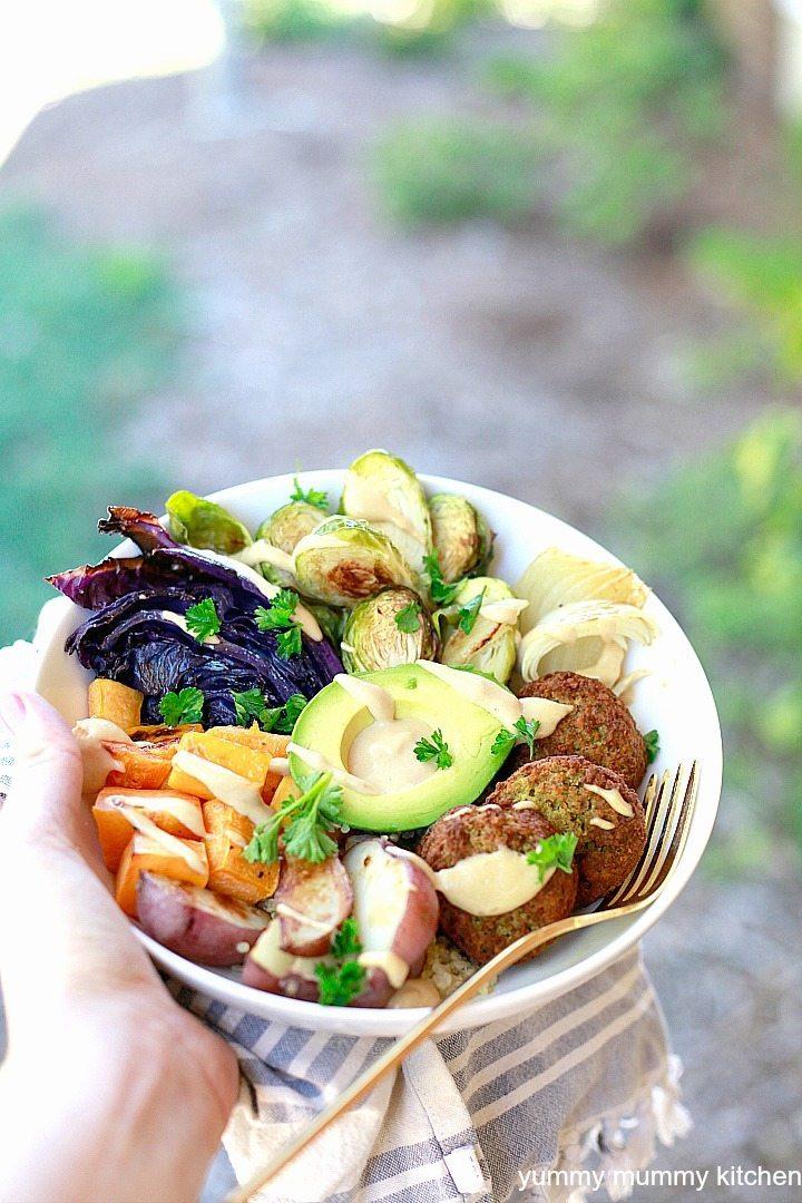 Easy Dinner Ideas | Sheet Pan Winter Buddha Bowl