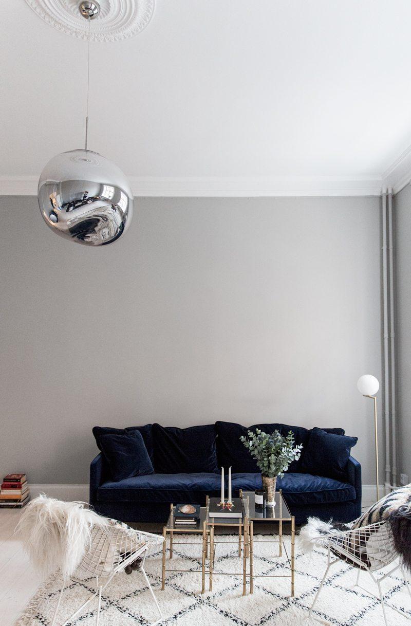 Blue Velvet Sofa Julia Couch By Posh Living Via Fashionsquad Com