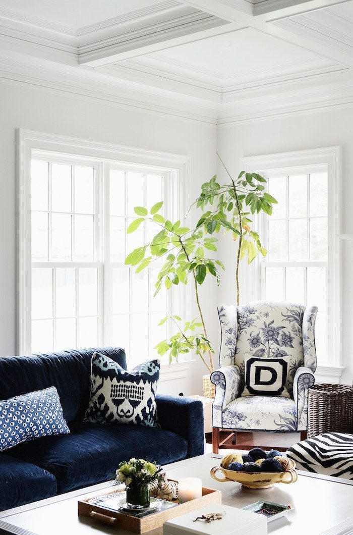 Winter Blues Decor | Design Inspiration | Blue Velvet Couch