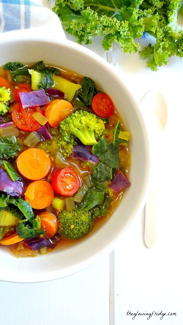 Souping Cleanse Recipes | Rainbow Veggie Detox Soup