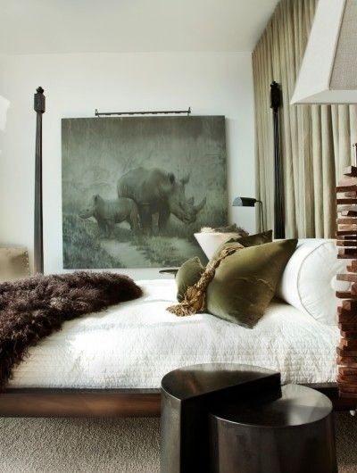 Velvet Decor | Design Inspiration | Green Velvet Throw Pillows Bedroom