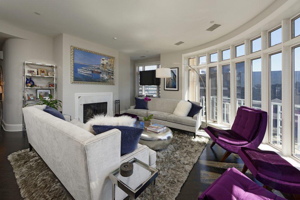 2401 penn living room fireplace