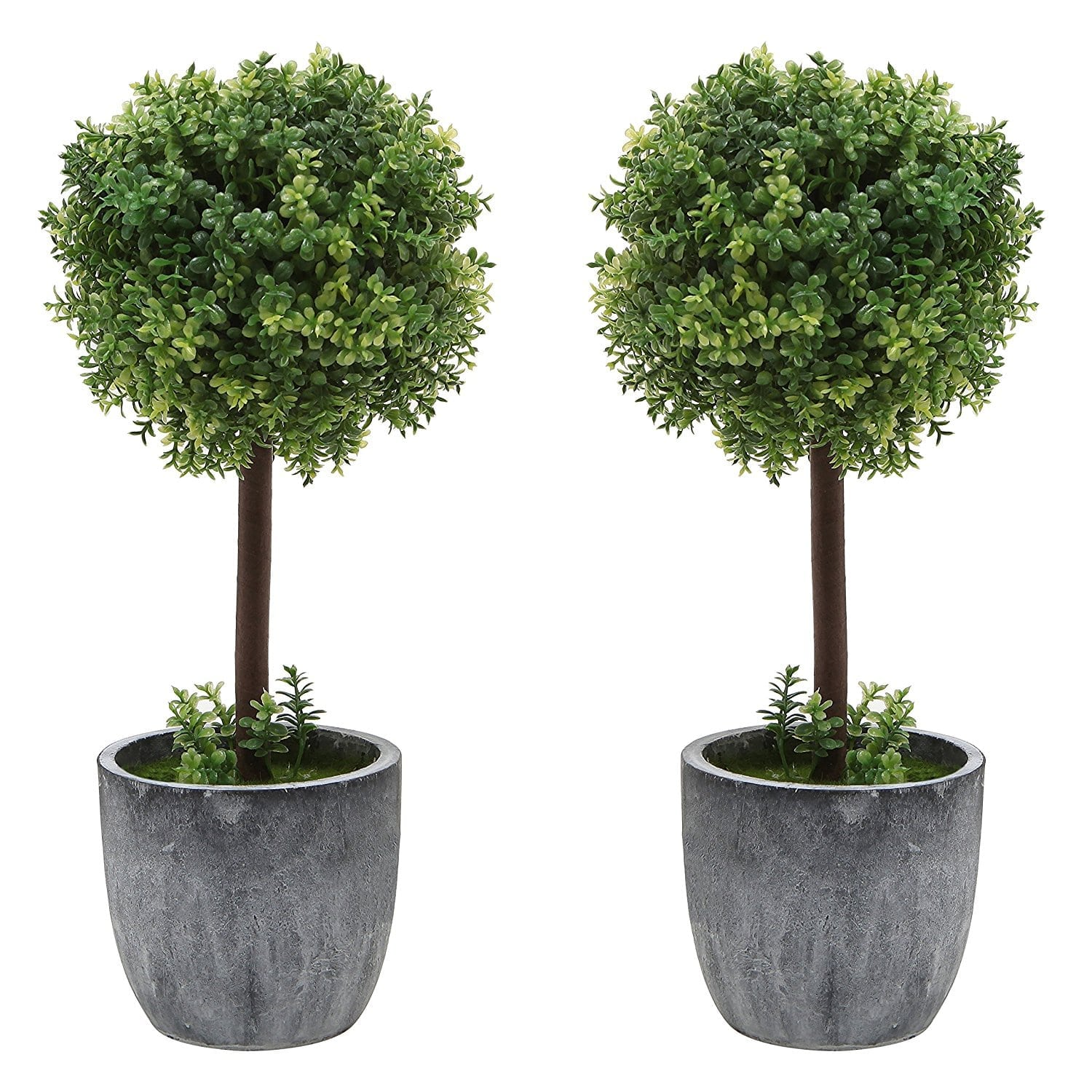Decorating With Faux Plants | Faux Boxwood Topiary