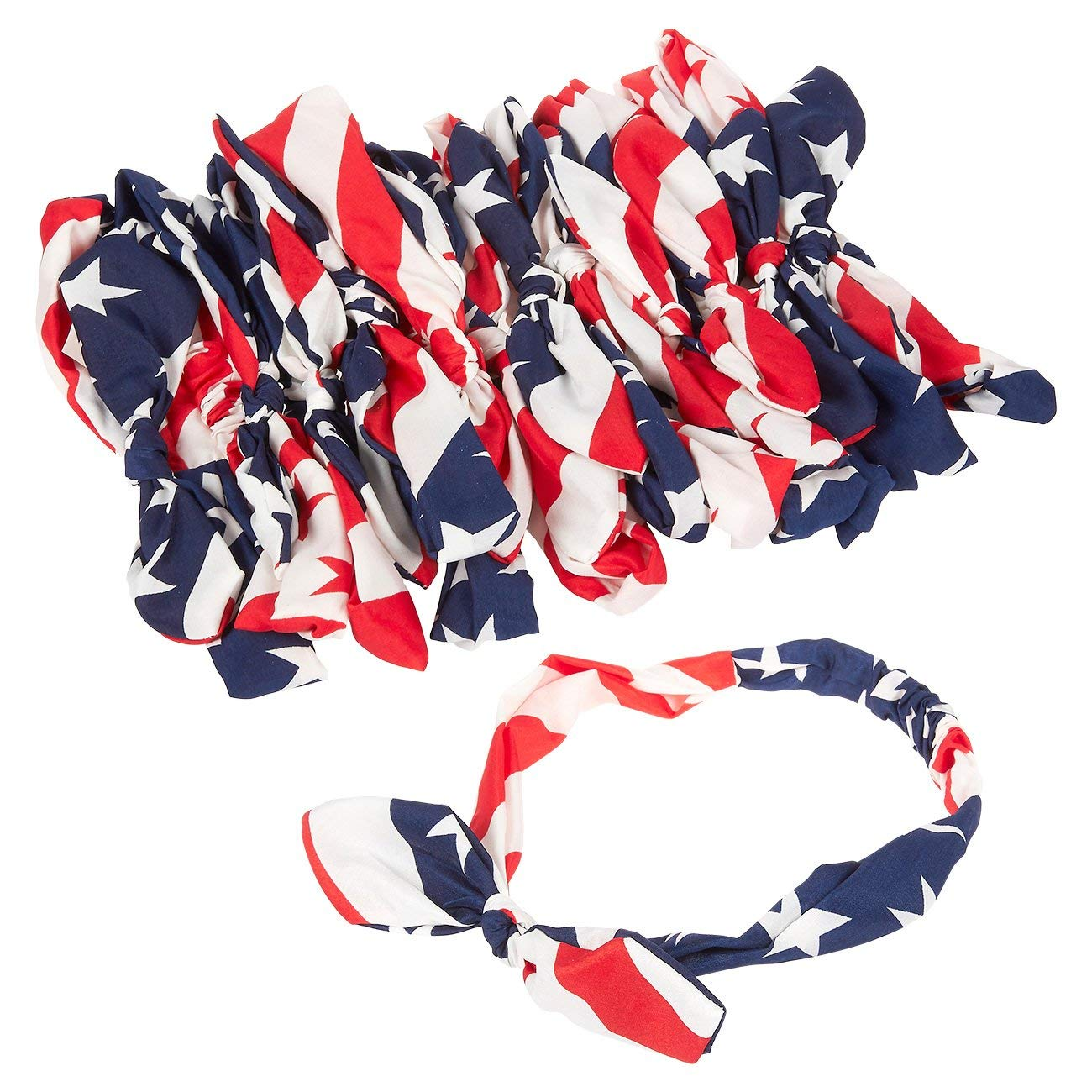 Fourth of July Red, White & Blue Accessories | American Flag Bandana Headbands