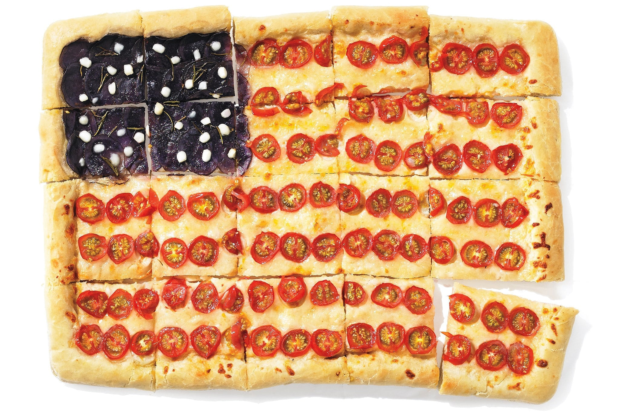 Fourth of July BBQ Recipes | American Flag Pizza Recipe
