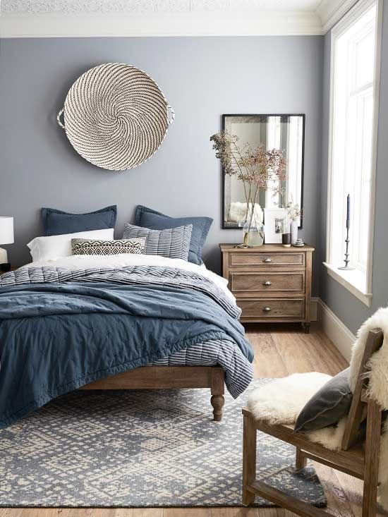 Tone-on-Tone Decor | Blue Bedoom Inspiration