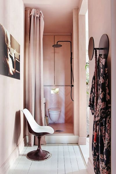 Tone-on-Tone Decor | Pink Bathroom Inspiration