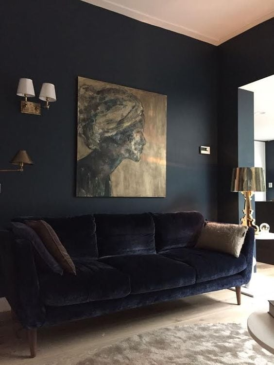 Tone-on-Tone Decor | Moody Black Living Room Inspiration