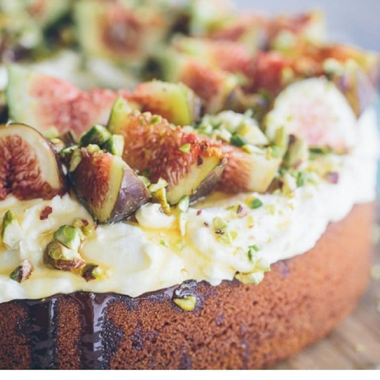 figs and honey cake dessert | Dessert Recipe| Fig Recipe