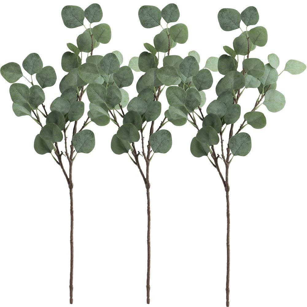 Farmhouse Vibes | Apartment Decor | Silver Dollar Eucalyptus Leaf Spray