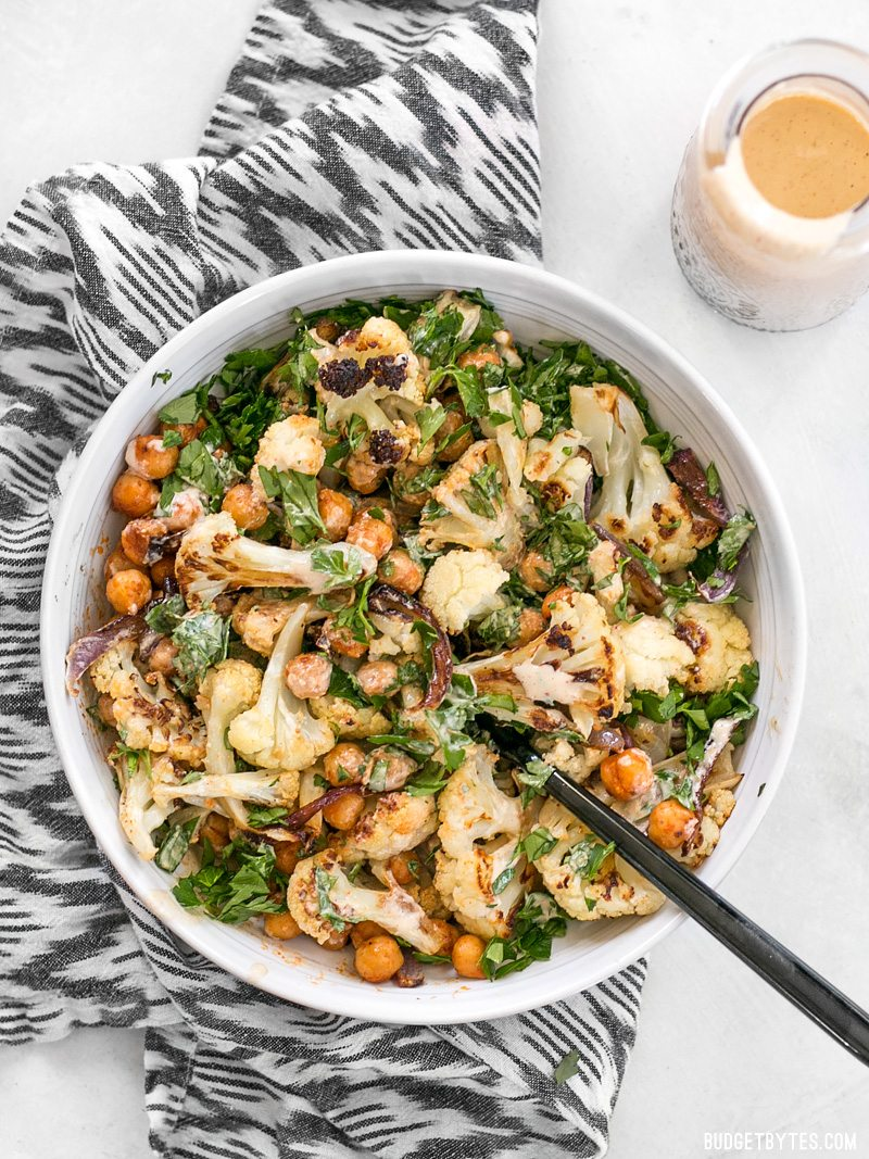 Protein-Packed Vegetarian Recipes | Roasted Cauliflower and Chickpea Salad