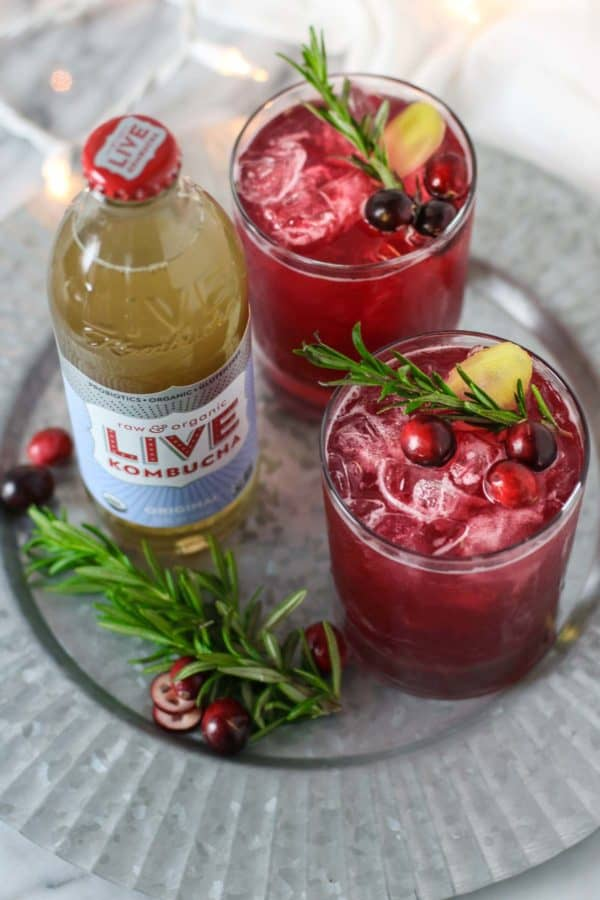 Mocktail Recipes | Cranberry Kombucha